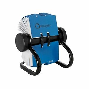 Rolodex Open Rotary Business Card File With 200 2 5 8 By 4 Inch Card Sleeve And