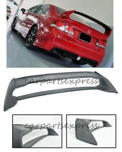 For 06 11 Honda Civic Sedan Mugen Rr Abs Plastic Rear Trunk Wing Spoiler F