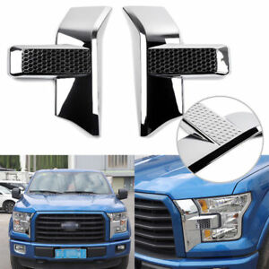 Front Bumper Headlight Grille Chrome Cover Trim For 15 Ford F150 Accessories
