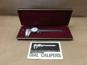 Mitutoyo Vintage Dial Caliper 505 629 Machinist W Case Instructions 4 Inches