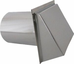 Wall Vent Hood With Spring Damper Durable Galvanized Sheet Metal Roof Accessory