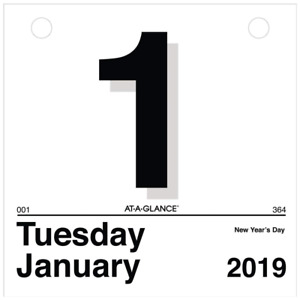 2019 Daily Wall Calendar Refill Large Font Print One Page Per Day Conferences