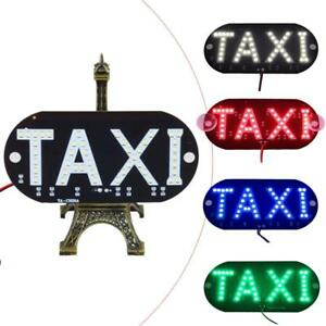 1p 12v Led Car Taxi Cab Indicator Lamp Windscreen Sign Windshield Light Lamp