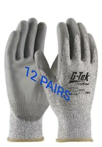Cut resistant Gloves 12 Pairs level 3 sz xl
