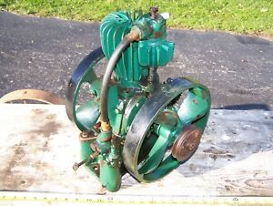 Old Stover Duro 1 2hp Air Cooled Vertical Hit Miss Gas Engine Steam Tractor Wow