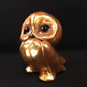 Vtg Pottery Owl Freeman McFarlin Gold Leaf Anthony USA California PRIORITY MAILd