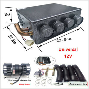 12v Universal Copper Underdash Compact Heater 12pcs Copper Tube speed Switch Kit