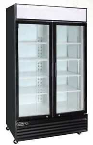 Kool it Kgm 36 pd Commercial 2 door Glass Door Display Refrigerator Cooler New