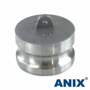 3 Inch Cam Lock Fitting Type Dp Dust Plug Adapter Plug Stainless Steel 316