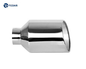 Fedar Truck Exhaust Tailpipe Tip 5 Inlet 10 Outlet 18 Rolled End Angle Cut