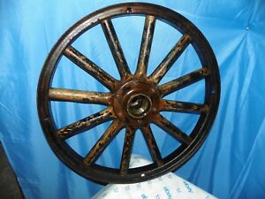 Model T Ford Wood Spoke Wheel With Metal Outer Rim 23