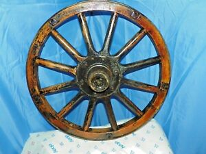 Model T Wood Spoked Wheel With Wood Outer Rim 23