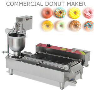 Heavy Duty Automatic Doughnut Hole Donut Ball Maker Machine Fryer With 3 Molds