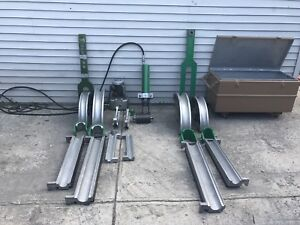 Greenlee 881 And 885te Hydraulic Pipe Bender W Pump 2 1 2 To 3 Emt Imc Rigid