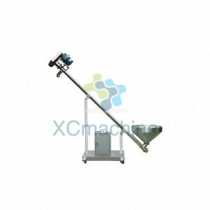 Powder Screw Feeding Vibrating Hopper Inclined Conveyor Machine Spiral Feeder