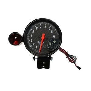 5 Inch Carbon Fiber Tachometer 11000k Rpm Gauge Shift Light Civic Integra Led