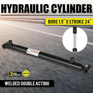 Hydraulic Cylinder For Loader Welded Double Acting 1 5 Bore 24 Stroke 1 5x24