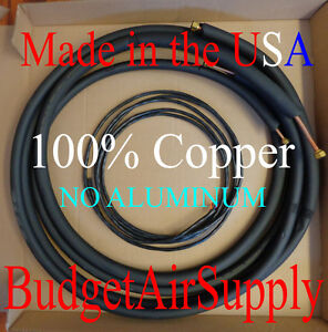 3 8 X 5 8 X 15ft 1 2 Insulated 100 Copper Ductless Mini Split Line Set wire