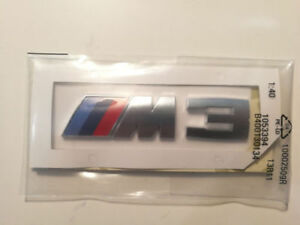 Emblem Badge Rear Silver Genuine Oem For Bmw M3 E30 E36 E46 E90 E92 E93 F30