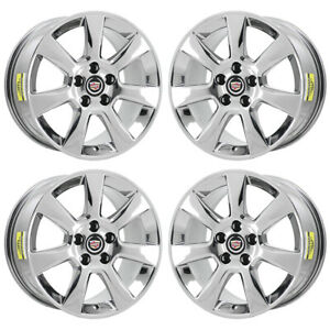 17 Cadillac Ats Sedan Pvd Chrome Wheels Rims Factory Oem Set 4702