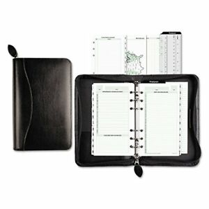 Classic Leather Starter Set Black Cover Planner Organizer Day timer Recycled