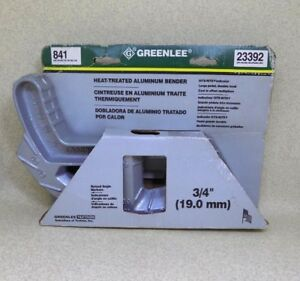 Greenlee Heat treated Aluminum Bender Large Pedal Durable Hook Cast In Offset