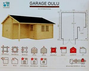 16 Ft X 18 Ft 288 Sq Ft Log Garage Workshop Hobby Storage Building Kit