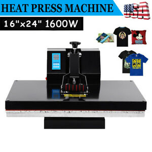 16x24 Clamshell Heat Press Machine Sublimation Transfer T shirt Print Lcd Timer