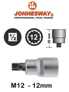 Jonnesway S64h4112 Triple Square Socket Bit M12 12mm 1 2 Dr 12 Point L 55 Mm