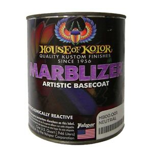 House Of Kolor Mb00 Q01 Shimrin Clear Neutral Marblizer Effect Basecoat Quart
