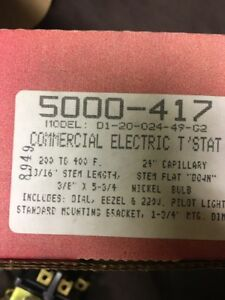 5000 417 Robertshaw Commercial Cooking Electric Oven Thermostat 200 400 Degrees