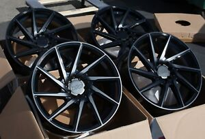 18x8 5 38 F1r F29 5x114 3 Black Used Wheels Fits Tsx Rsx Tlx Tl 240sx Wrx