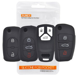 Xukey Silicone Key Case Remote Fob Cover For Audi A1 A2 S1 A3 S3 A4 A6 Tt Q3 Q5