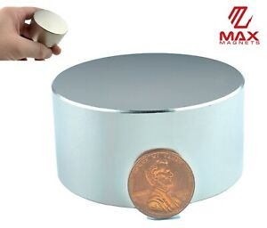 Largest Size 60mm 2 36 Neodymium Rare Earth Magnet Big Super Strong Huge Size