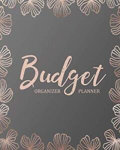 Budget Planner Organizer Rose Pink 12 Month Financial Planning Journal Monthly