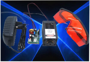 Focus able 450nm 3 5w 4w Blue Laser Module For Carving burning engraving