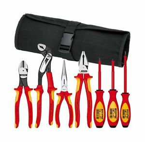 Knipex 989825us 7 piece 1000v Insulated Pliers Cutters And Screwdriver Comm