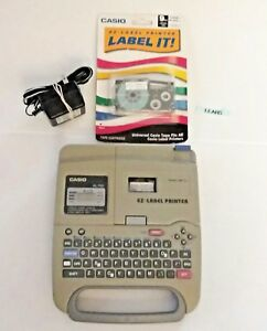 Casio Ez Label Thermal Maker Printer Kl 750 New Cart Powercord Or Batteries Lot