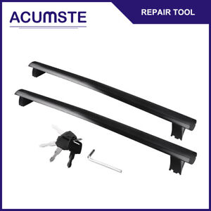 For 2011 2018 Jeep Grand Cherokee Black Top Roof Rack Cross Bar Luggage Carrier