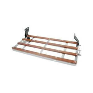1928 1931 Ford Model A Luggage Rack Chrome Plated With Wood Strips 28 22129 1
