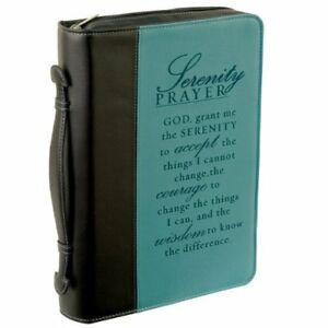 Serenity Prayer Two tone Bible Book Cover Medium By Christian Art Gifts