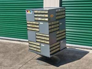 Fricke Gallagher 192 Drawer Rotating Storage Cabinet Tower Super Rare