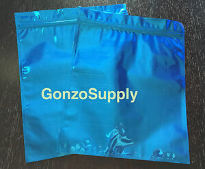 300pc Large Blue Mylar Ziplock Bags coffee Food Merchandise Storage 8x10in New