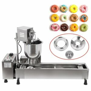 Commercial Automatic Donut Fryer Maker Making Machine 3 Change Mold Diy Cookware