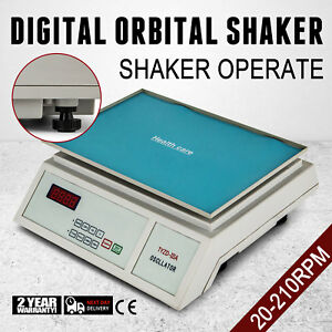 Orbital Shaker Digital 20 210 Rpm Horizontal Rotator Platform 12 X 8 Lab Mixer