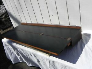 Mid Century Modern Teak Stand Up Writing Desk Or Serving Table