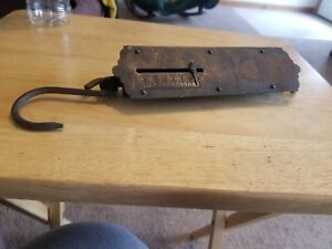 Antique Landers Improved Spring Balance Hanging Scale 50 Pound Scale