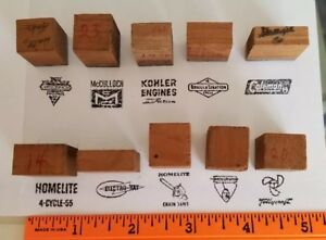 Vintage Letterpress Engine Advertising Print Block Printer Stamp Wood Metal Lot