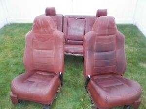 08 09 10 Ford Super Duty F250 F350 Oem King Ranch Leather Front