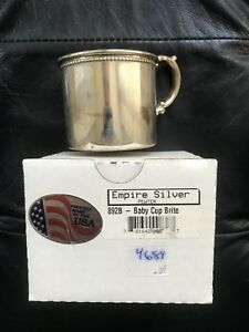Nib Vintage Imperial Silver Sterling Baby Cup Nursery Rare New In Box